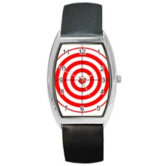 Sniper Focus Target Round Red Barrel Style Metal Watch by Alisyart