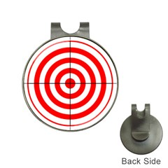 Sniper Focus Target Round Red Hat Clips With Golf Markers by Alisyart