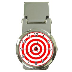 Sniper Focus Target Round Red Money Clip Watches by Alisyart