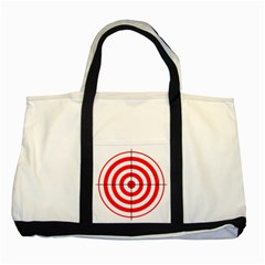 Sniper Focus Target Round Red Two Tone Tote Bag by Alisyart
