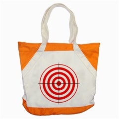 Sniper Focus Target Round Red Accent Tote Bag by Alisyart