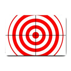 Sniper Focus Target Round Red Small Doormat  by Alisyart