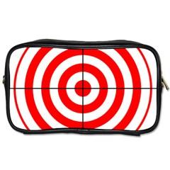 Sniper Focus Target Round Red Toiletries Bags 2 Side by Alisyart
