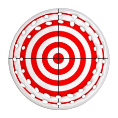 Sniper Focus Target Round Red Ornament (round Filigree) by Alisyart