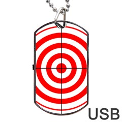 Sniper Focus Target Round Red Dog Tag Usb Flash (two Sides) by Alisyart