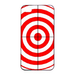 Sniper Focus Target Round Red Apple Iphone 4/4s Seamless Case (black) by Alisyart
