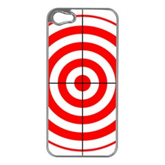 Sniper Focus Target Round Red Apple Iphone 5 Case (silver) by Alisyart