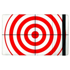 Sniper Focus Target Round Red Apple Ipad 3/4 Flip Case by Alisyart