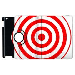 Sniper Focus Target Round Red Apple Ipad 2 Flip 360 Case by Alisyart