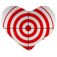 Sniper Focus Target Round Red Large 19  Premium Heart Shape Cushions by Alisyart