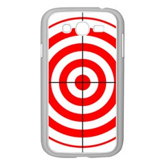 Sniper Focus Target Round Red Samsung Galaxy Grand Duos I9082 Case (white) by Alisyart