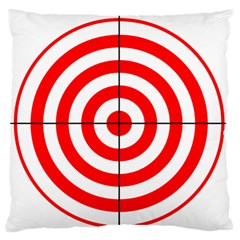 Sniper Focus Target Round Red Large Flano Cushion Case (one Side) by Alisyart