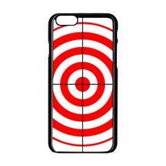 Sniper Focus Target Round Red Apple Iphone 6/6s Black Enamel Case by Alisyart