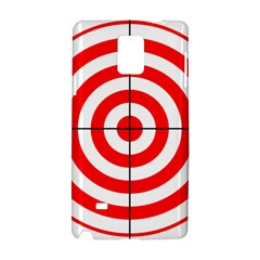Sniper Focus Target Round Red Samsung Galaxy Note 4 Hardshell Case by Alisyart