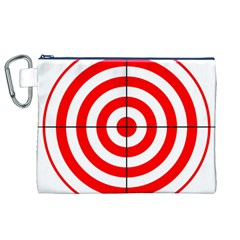 Sniper Focus Target Round Red Canvas Cosmetic Bag (xl) by Alisyart