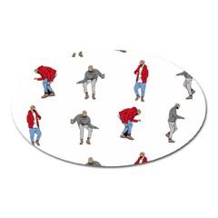 Hotline Bling Oval Magnet by Onesevenart
