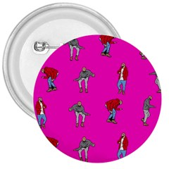 Hotline Bling Pink Background 3  Buttons by Onesevenart