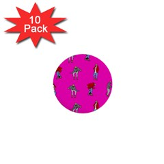 Hotline Bling Pink Background 1  Mini Buttons (10 Pack)  by Onesevenart
