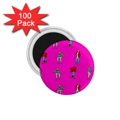 Hotline Bling Pink Background 1 75  Magnets (100 Pack)  by Onesevenart