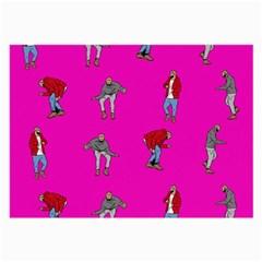 Hotline Bling Pink Background Large Glasses Cloth (2 Side) by Onesevenart
