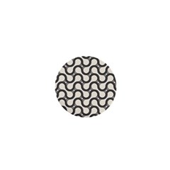 Shutterstock Wave Chevron Grey 1  Mini Buttons by Alisyart