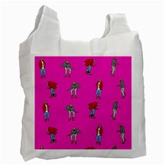 Hotline Bling Pink Background Recycle Bag (two Side)  by Onesevenart
