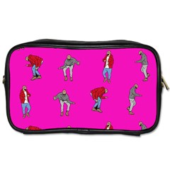 Hotline Bling Pink Background Toiletries Bags 2 Side by Onesevenart