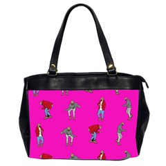 Hotline Bling Pink Background Office Handbags (2 Sides)  by Onesevenart