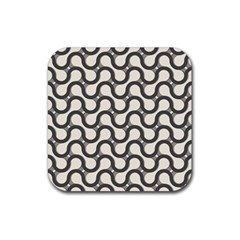 Shutterstock Wave Chevron Grey Rubber Square Coaster (4 Pack)  by Alisyart