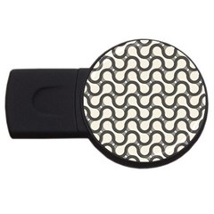 Shutterstock Wave Chevron Grey Usb Flash Drive Round (2 Gb) by Alisyart