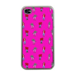 Hotline Bling Pink Background Apple Iphone 4 Case (clear) by Onesevenart