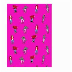Hotline Bling Pink Background Large Garden Flag (two Sides) by Onesevenart