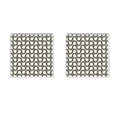 Shutterstock Wave Chevron Grey Cufflinks (square) by Alisyart