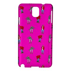 Hotline Bling Pink Background Samsung Galaxy Note 3 N9005 Hardshell Case by Onesevenart