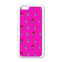 Hotline Bling Pink Background Apple Iphone 6/6s White Enamel Case by Onesevenart