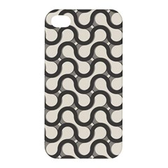Shutterstock Wave Chevron Grey Apple Iphone 4/4s Premium Hardshell Case by Alisyart