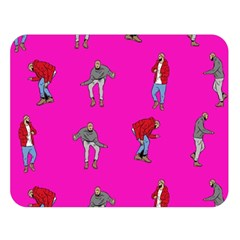 Hotline Bling Pink Background Double Sided Flano Blanket (large)  by Onesevenart