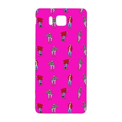 Hotline Bling Pink Background Samsung Galaxy Alpha Hardshell Back Case by Onesevenart