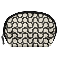 Shutterstock Wave Chevron Grey Accessory Pouches (large)  by Alisyart