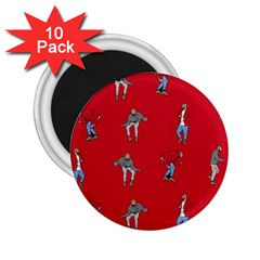 Hotline Bling Red Background 2 25  Magnets (10 Pack)  by Onesevenart