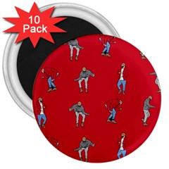 Hotline Bling Red Background 3  Magnets (10 Pack)  by Onesevenart