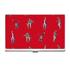 Hotline Bling Red Background Business Card Holders by Onesevenart