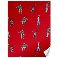 Hotline Bling Red Background Canvas 36  X 48   by Onesevenart