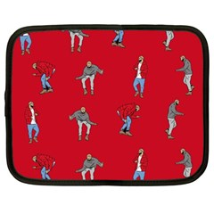 Hotline Bling Red Background Netbook Case (large) by Onesevenart