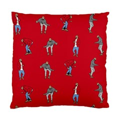 Hotline Bling Red Background Standard Cushion Case (two Sides) by Onesevenart