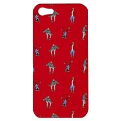 Hotline Bling Red Background Apple Iphone 5 Hardshell Case by Onesevenart