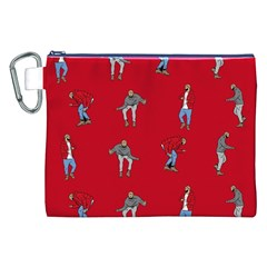 Hotline Bling Red Background Canvas Cosmetic Bag (xxl) by Onesevenart