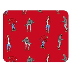 Hotline Bling Red Background Double Sided Flano Blanket (large)  by Onesevenart