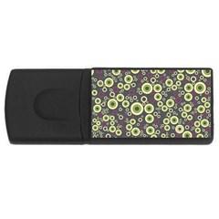 Ring Circle Plaid Green Pink Blue Usb Flash Drive Rectangular (4 Gb) by Alisyart