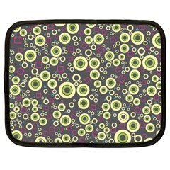 Ring Circle Plaid Green Pink Blue Netbook Case (xxl)  by Alisyart